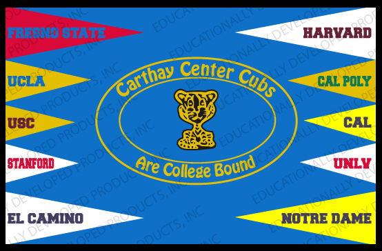 Carthay Center Cubs Are College Bound (Border) Customized Mat