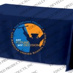 Imprinted Table Throw for LAUSD Diploma Project