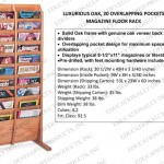 EDP Luxurious Magazine Racks - Oak