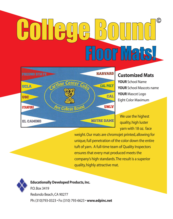 College Bound Floor Mats by EDP