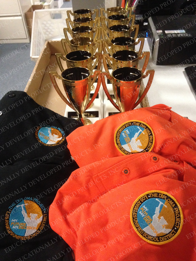 Customized Patches and Trophies for LAUSD The Diploma Project by EDP