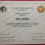 61st Elem School Career Day Certificate